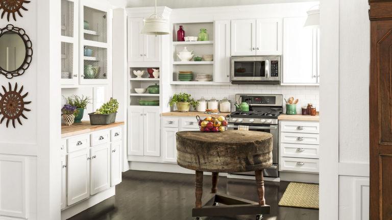 стиль кантри на кухне фото мебель аксессуары