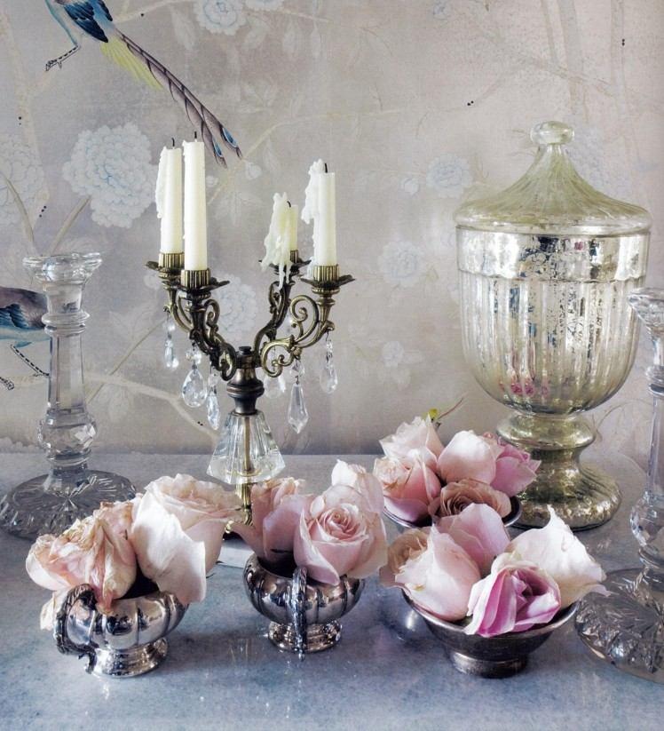 стиль шебби шик в интерьере фото аксессуары декор цветы