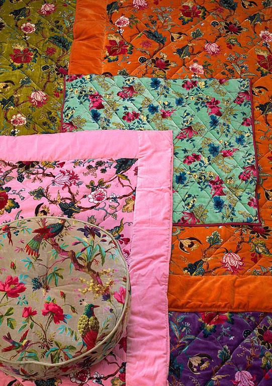 стиль шебби шик в интерьере фото текстиль узоры