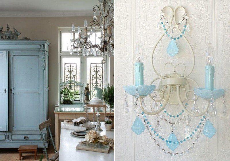стиль шебби шик в интерьере гостиной фото бра своими руками из старых украшений