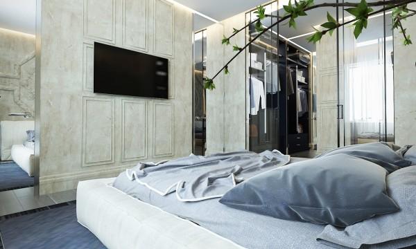 стиль современная классика в интерьере фото дизайн спальни бежевый