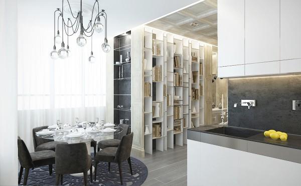 стиль современная классика в интерьере кухни фото дизайн столовой