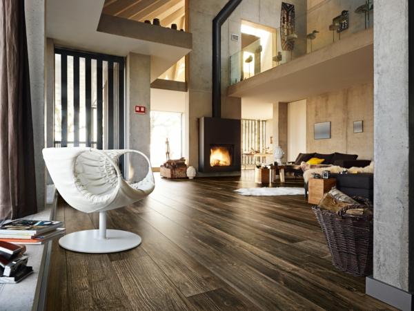 темный ламинат в интерьере гостиной фото дизайн лофта