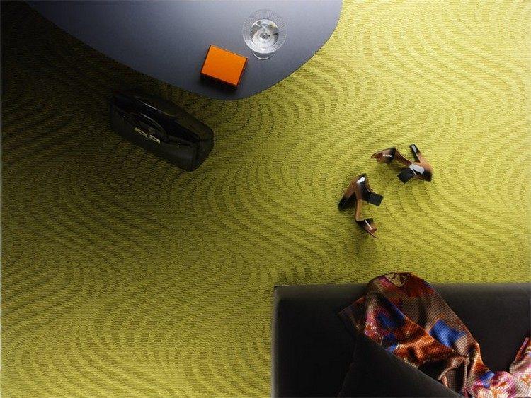 зеленый ковролин в интерьере фото палас на пол волнами