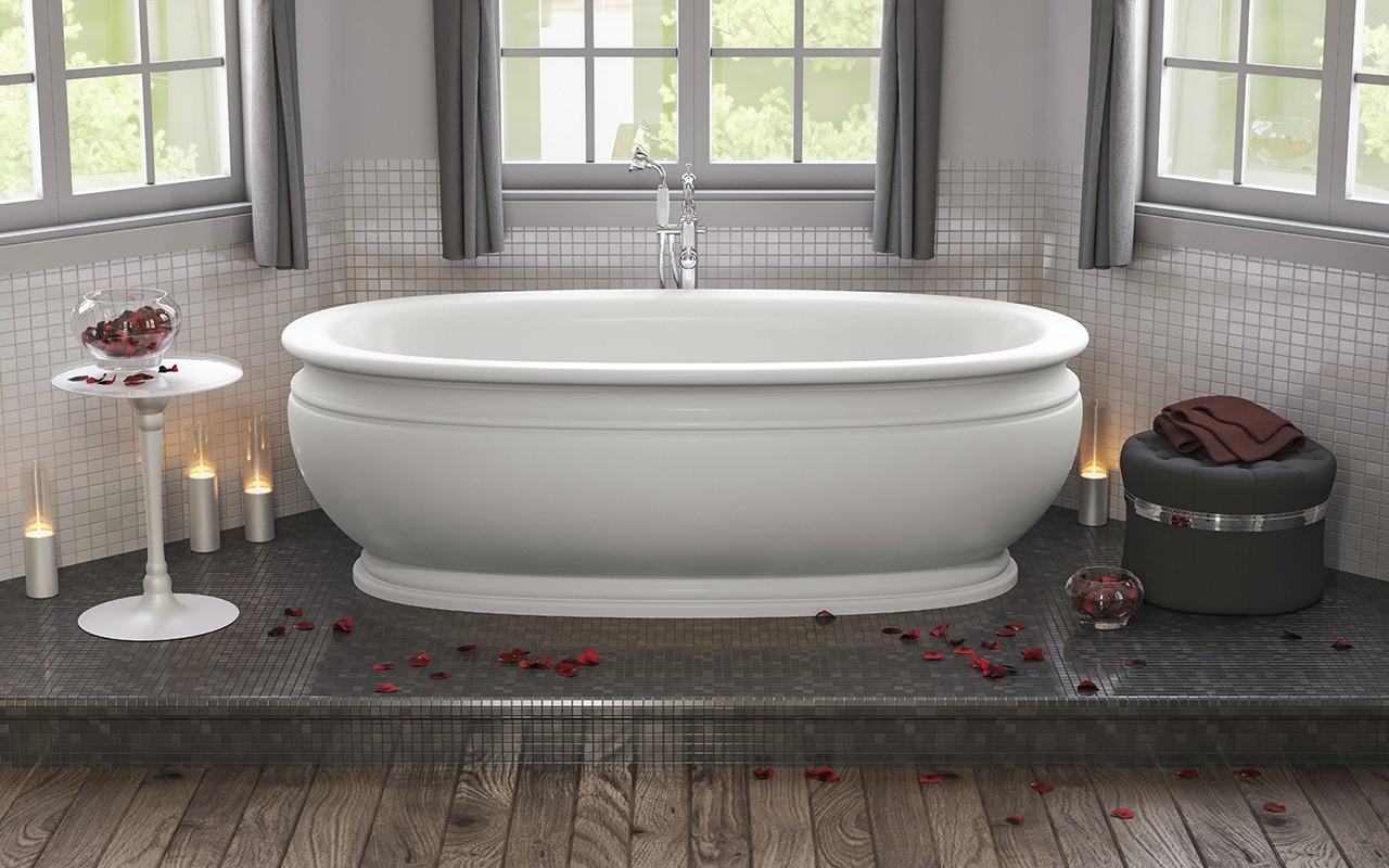 Роскошная ванна необычной формы 4