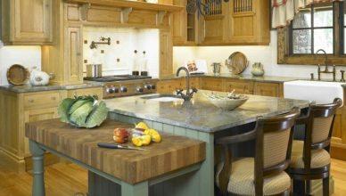 дизайн и интерьер кухни в стиле кантри