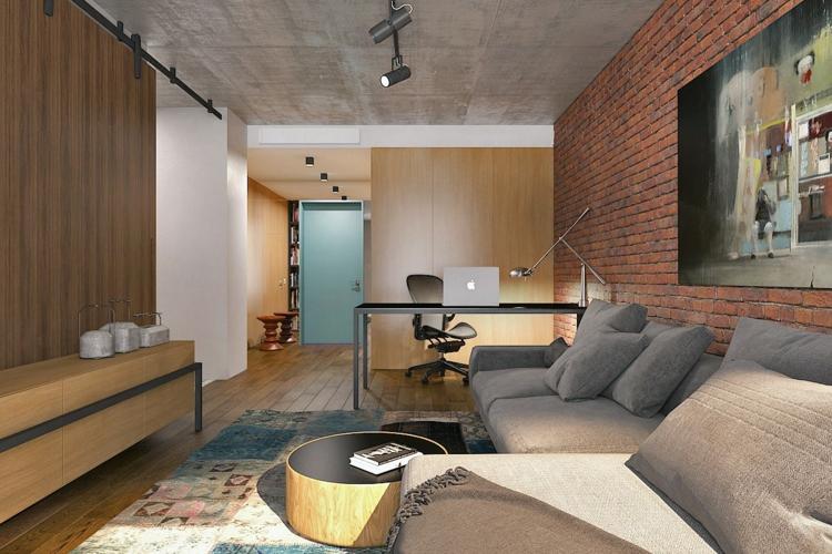 дизайн интерьера квартиры-студии 30 28 32 кв м (1)