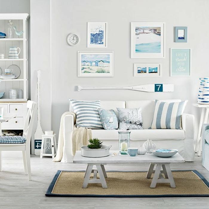 морской стиль в интерьере детской комнаты гостиной фото