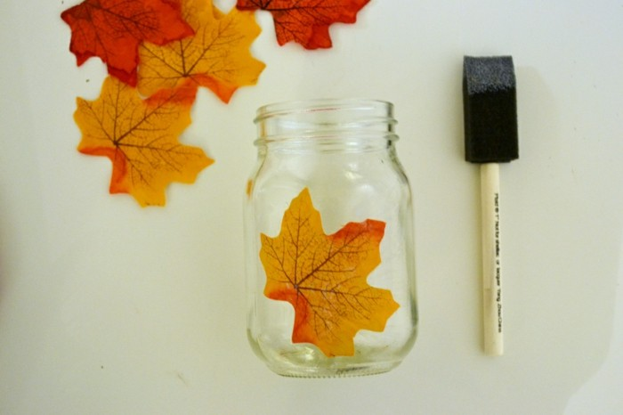 поделки из листьев своими руками фото