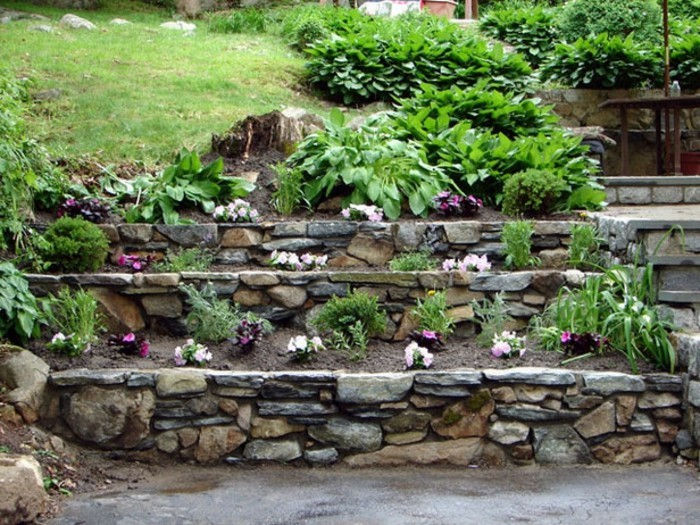 сад камней декоративные камни в саду камни для сада фото
