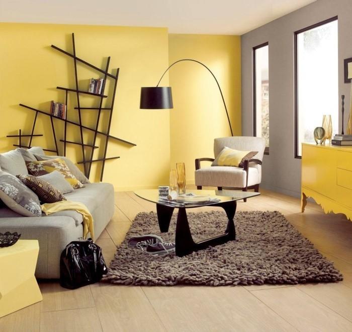 интерьер квартиры в желтом цвете