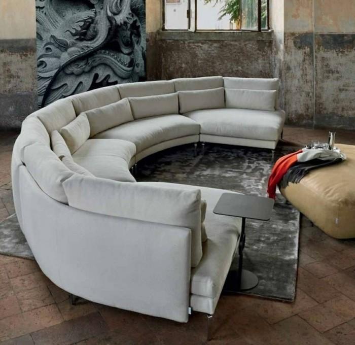 круглый диван фото
