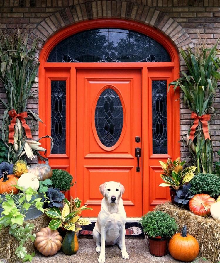 Замечательные идеи для украшения входной двери
