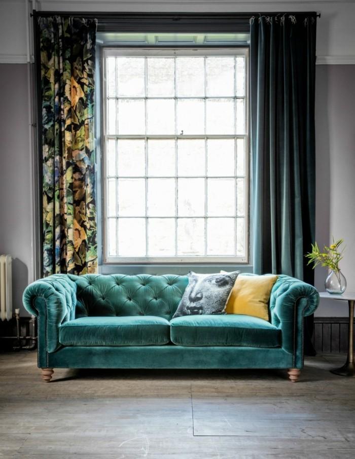 бархатный диван в интерьере фото (5)
