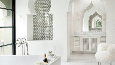 марокканский стиль в интерьере ванной фото