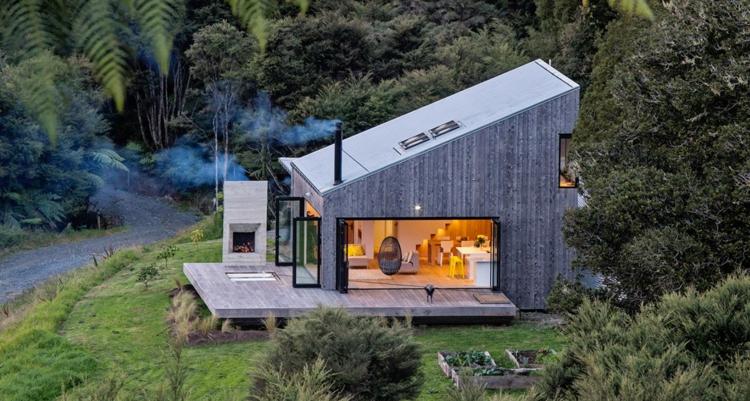 современный деревянный дом фото