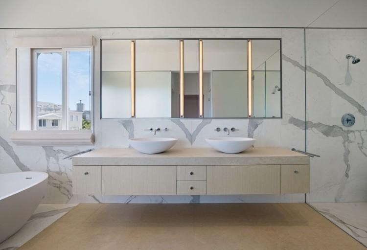 ванная под мрамор фото